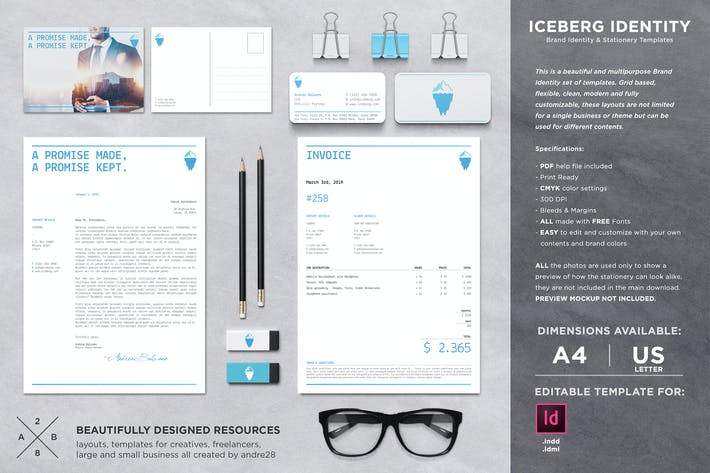 Thumbnail for Iceberg Stationery Set & Invoice