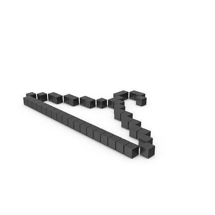 Icono de colgador pixelado