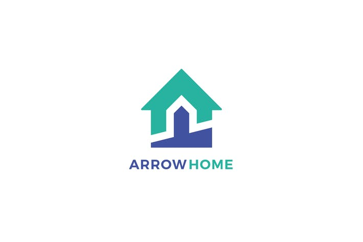 Cover Image For Arrow Home Logo Template