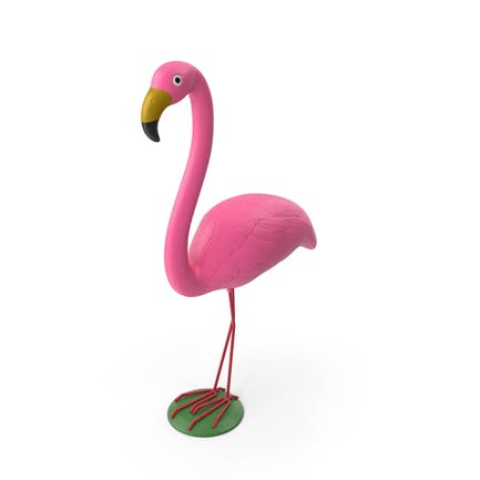 Rosa Flamingo Yard Rasen Ornament