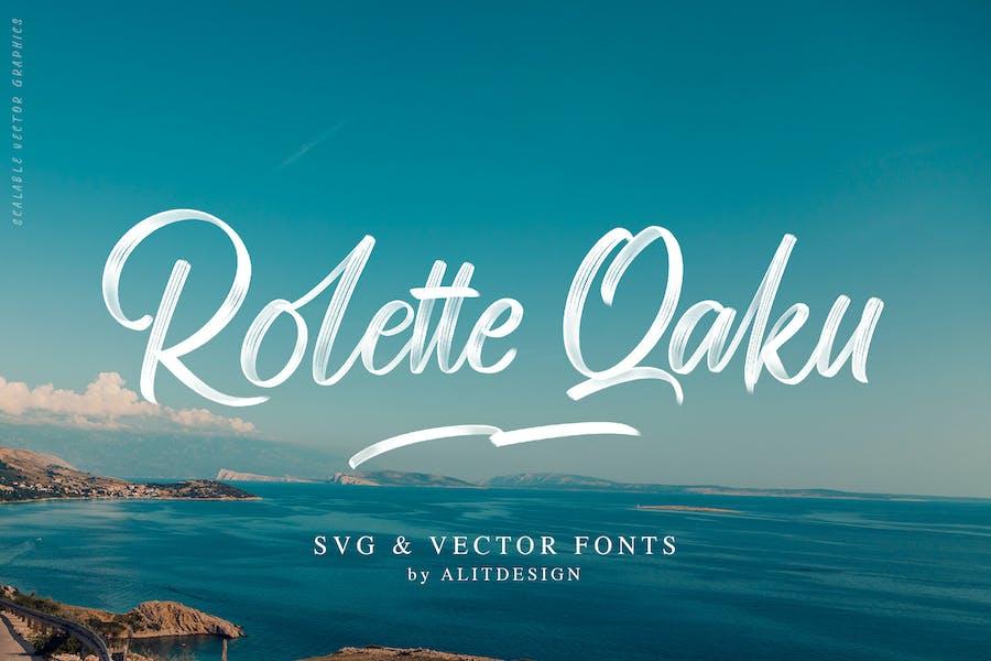 Rollete Qaku SVG & Regular font