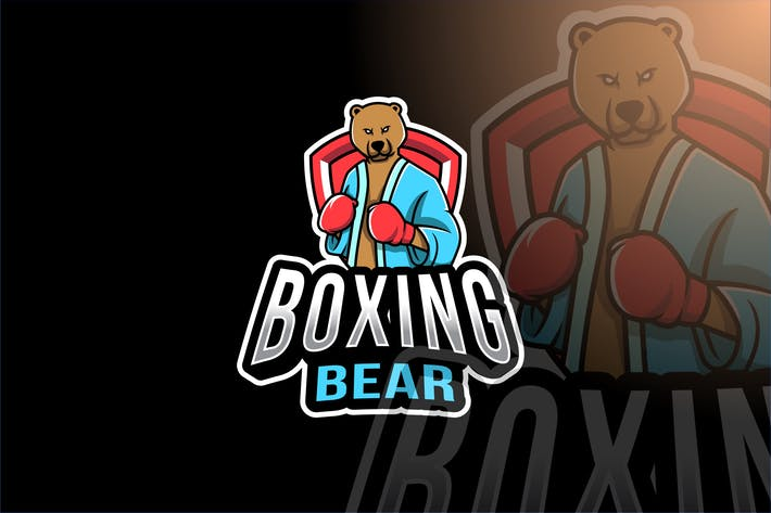 Thumbnail for Boxing Bear Esport Logo Template
