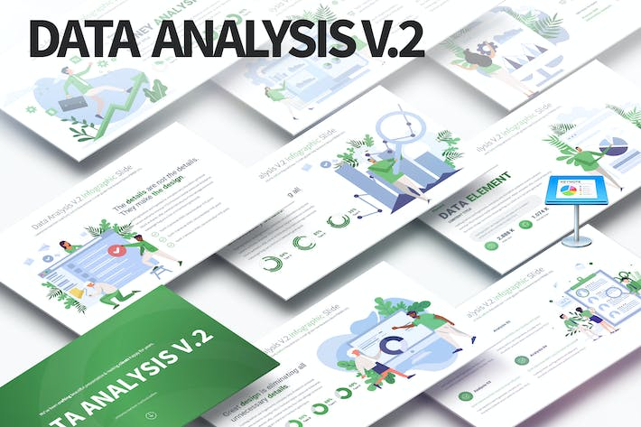 Data Analysis V.2 - Keynote Infographics Slides