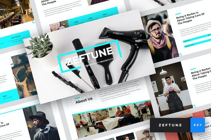 Zeftune - Barbershop Keynote Template
