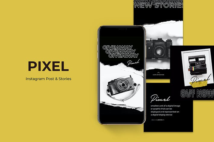 Thumbnail for Pixel Instagram Post and Stories