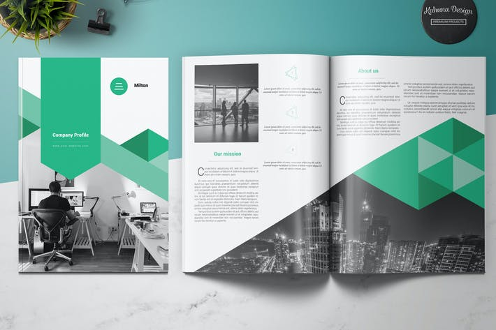 Company profile by kahuna design on envato elements for Company profile brochure template