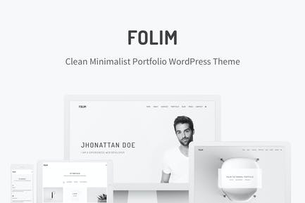 Folim - Clean Minimalist Portfolio WordPress Theme