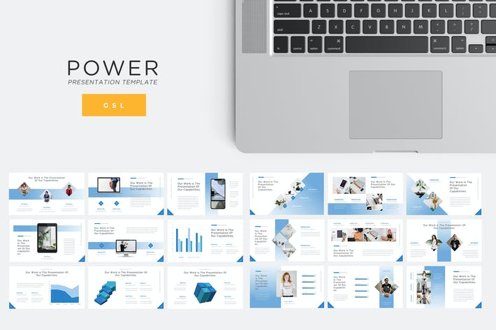 Thumbnail for Power - Technology Google Slides Template