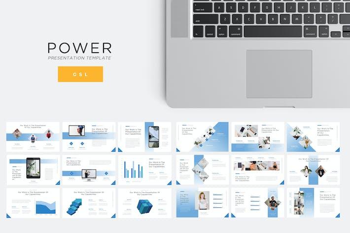 Thumbnail for Мощность - Технология Google Слайды Шаблон