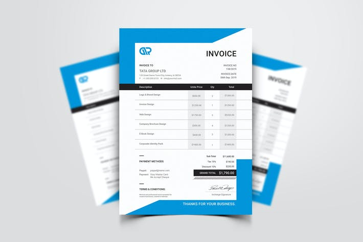 Thumbnail for Invoice Template 07