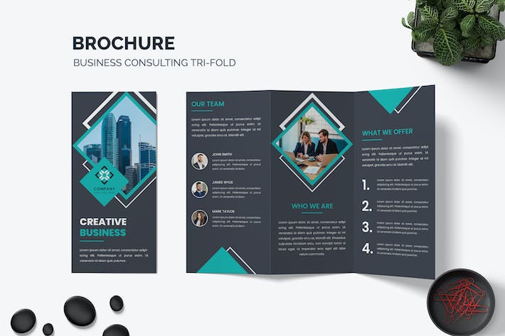 Thumbnail for Company Business Tri-Fold Brochure