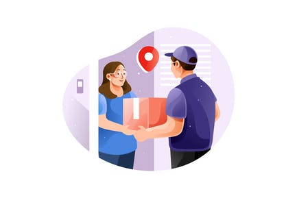 Couriers deliver ordered goods to consumers