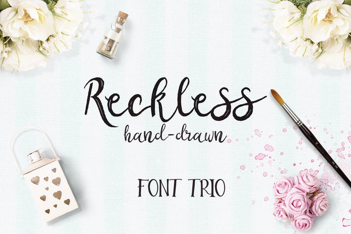 Thumbnail for Reckless Font Trio