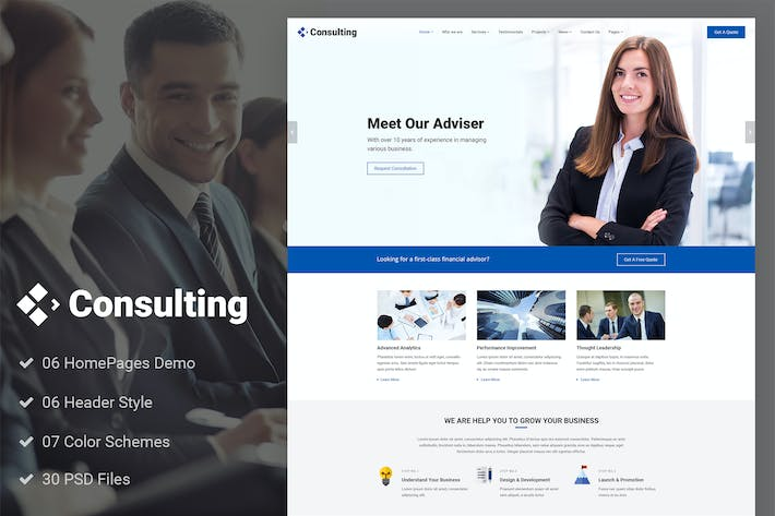 Thumbnail for Consulting - Finance Broker Advisor PSD Template