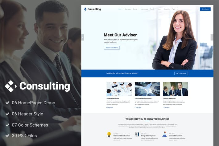 Download 34 consulting website templates envato elements wajeb Choice Image