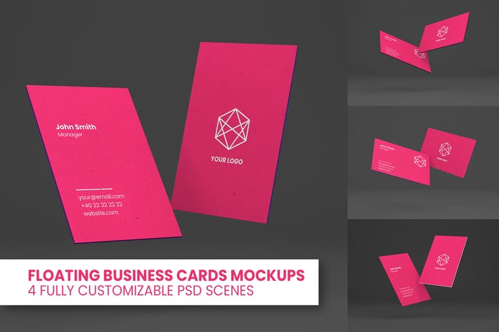 Thumbnail for Floating Business Cards