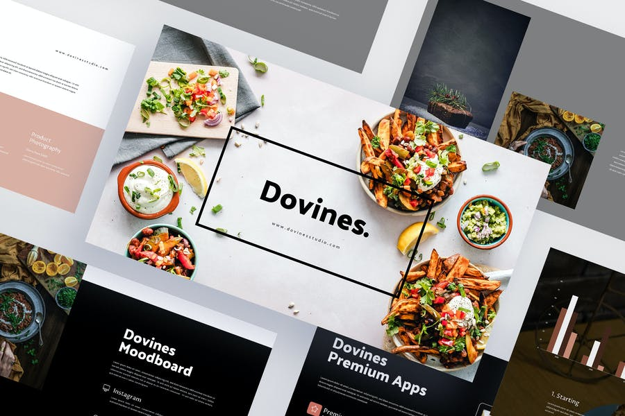 Dovines - Healthy Food Powerpoint Template