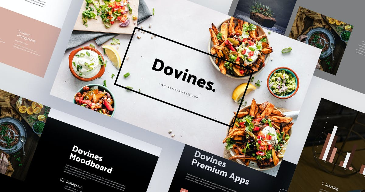 Download Dovines - Healthy Food Powerpoint Template by eunavia
