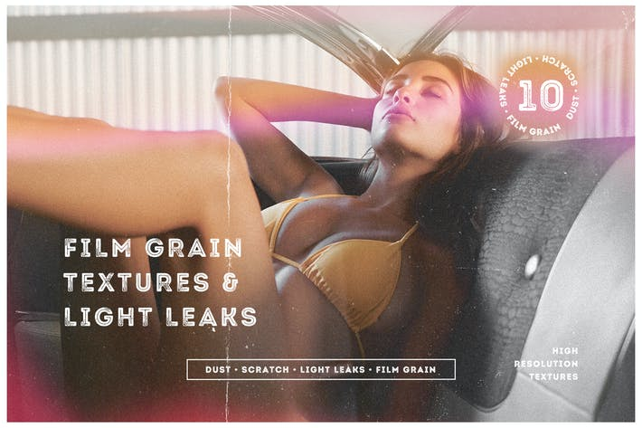 Thumbnail for Film Grain Textures & Light Leaks