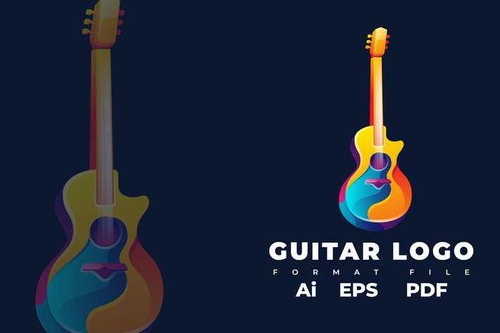 Thumbnail for Guitar Logo Template