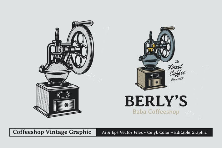 Thumbnail for Vintage Coffee Branding Graphic