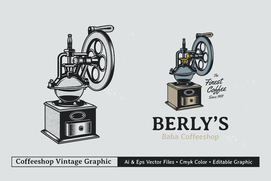 Vintage Coffee Branding Graphic