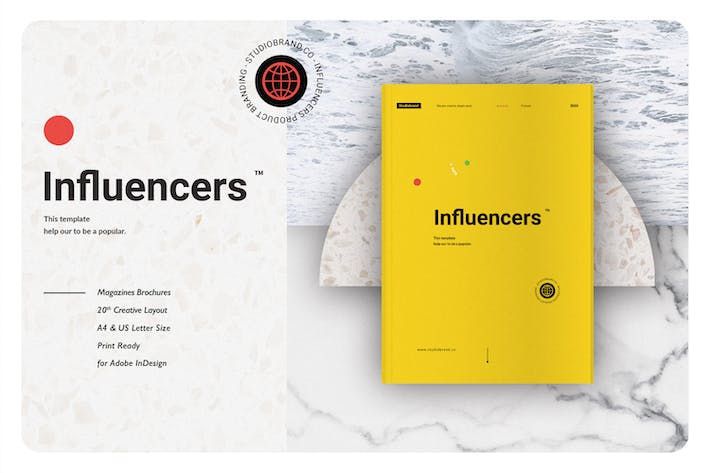 Thumbnail for Influencers Bussines Brand Magazine Brochure