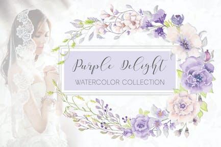 'Purple Delight' Watercolor Collection