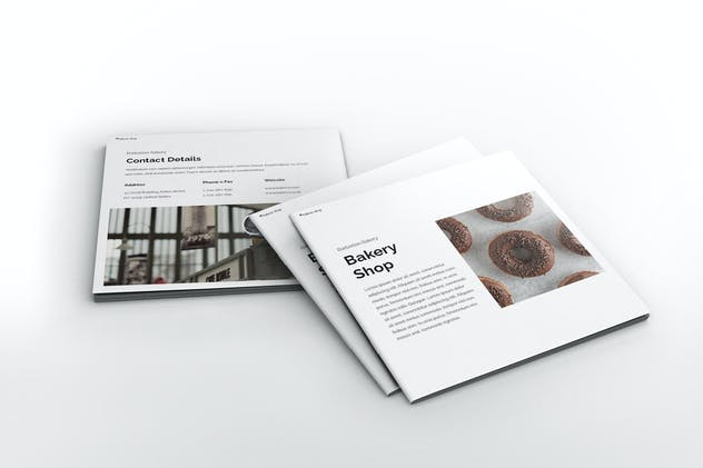 Bakery Square Brochure Template