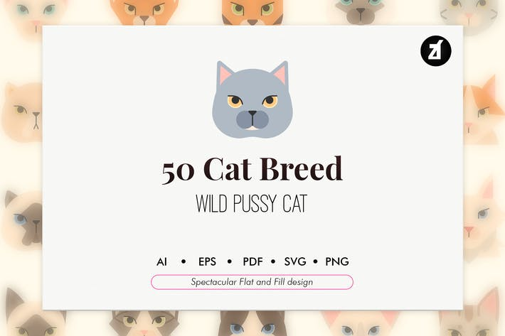 Thumbnail for 50 Cat breed elements