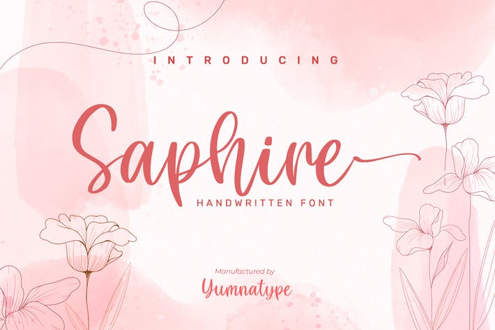 Thumbnail for Saphire-Elegant Handwritten Font