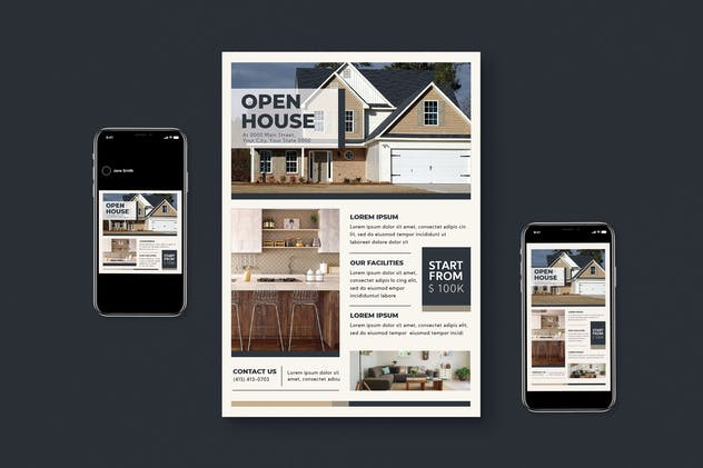 Real Estate Flyer Set