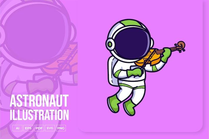 Thumbnail for Astronaut spielt Violine