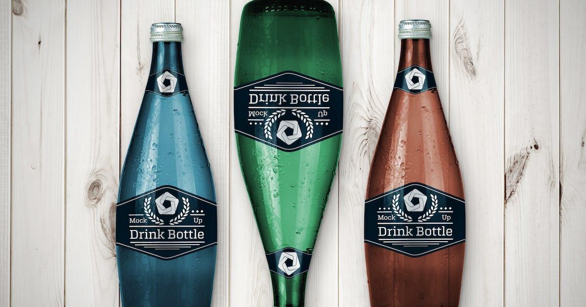 Download Drink Bottle Mockup V.2 by QalebStudio