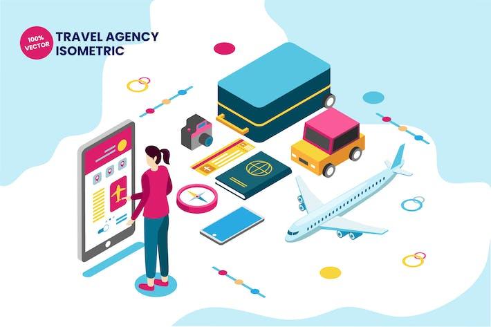 Thumbnail for Isometric Travel Agency Vector Illustration
