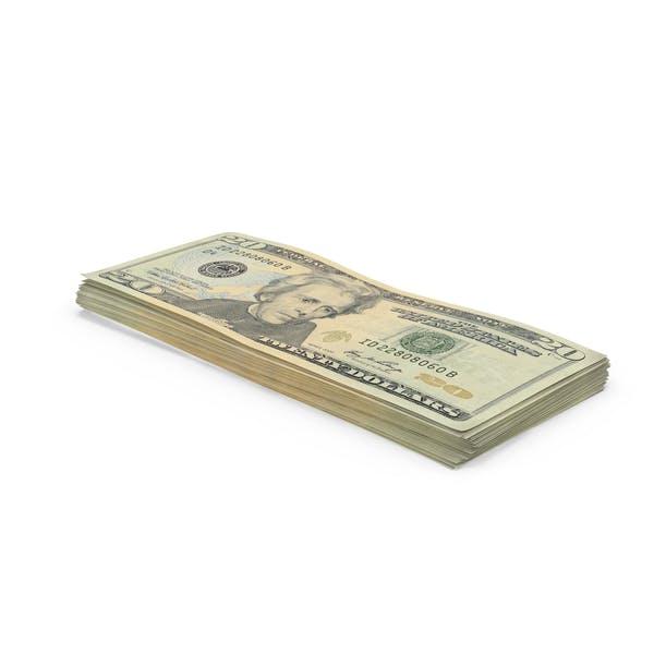 20 Dollar Bill Stack