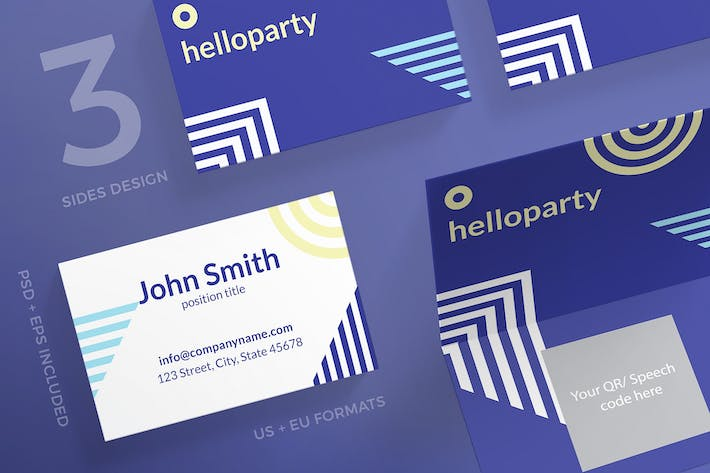 Thumbnail for Beach Party Business Card Template