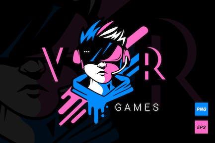 VR-Spiele Logotype