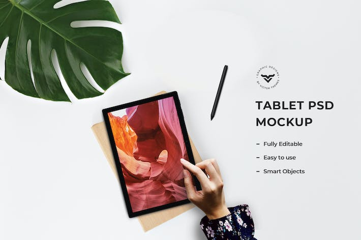 Cover Image For Tablet PSD Mockups Template