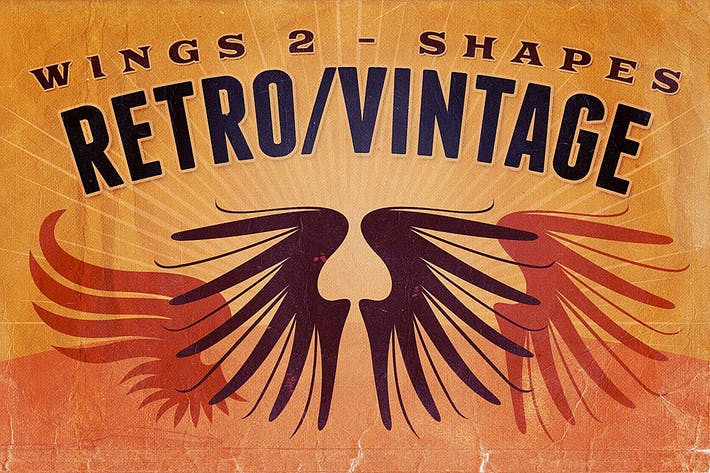 Thumbnail for Retro/Vintage shapes - Wings 2
