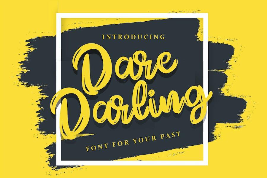 Dare Daling   Script Brush Font