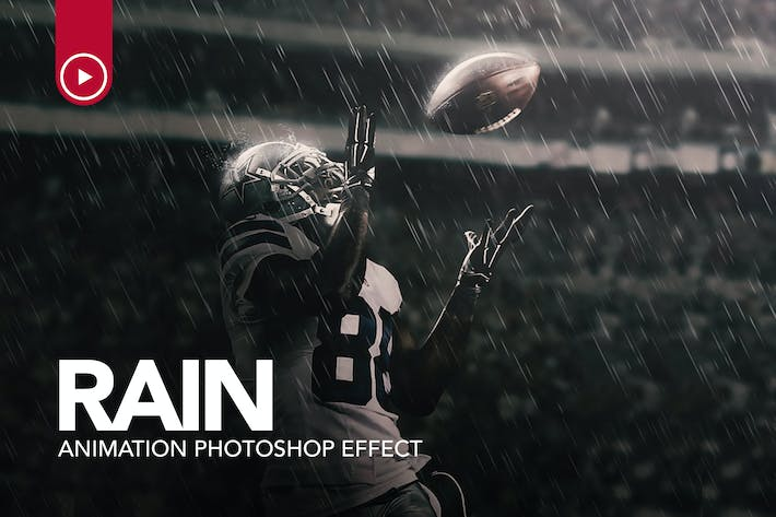 Thumbnail for Rain Animation Photoshop Action
