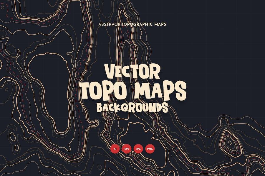 Topographische Karten-Hintergründe