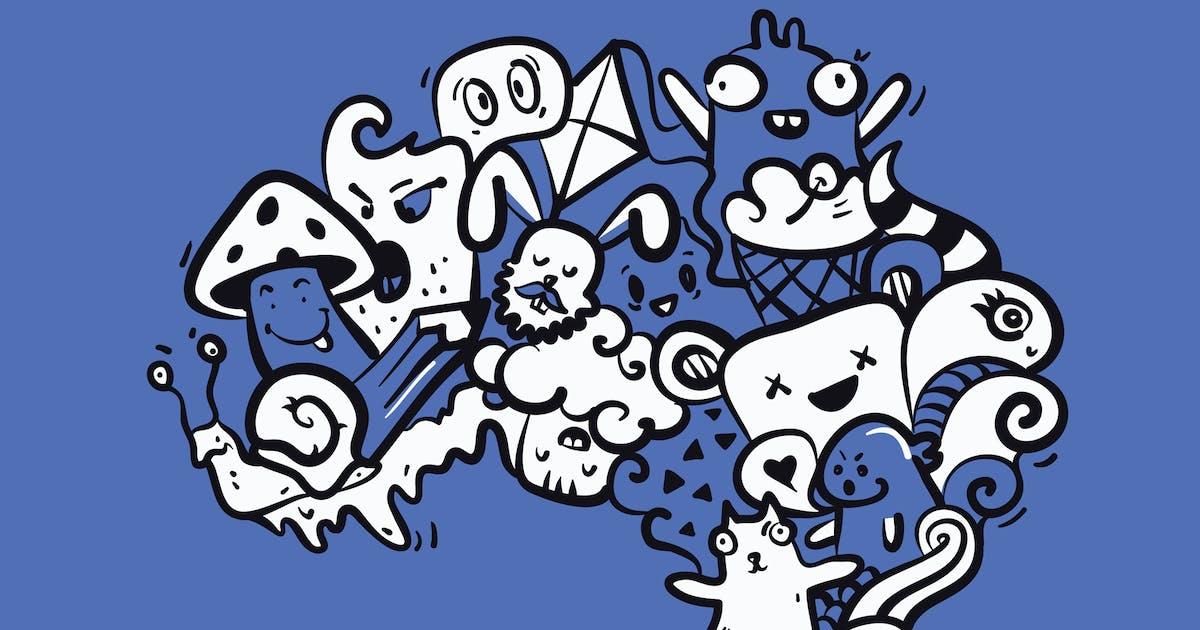 Download Weird Creatures Doodles by Jumsoft