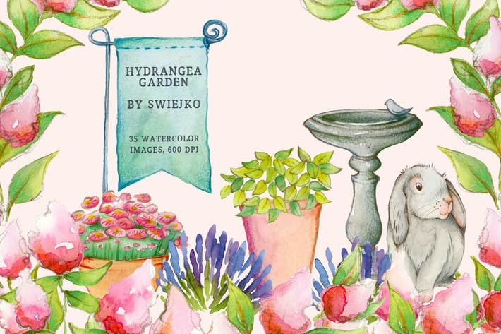 Thumbnail for Sweet & Romantic Hydrangea Garden