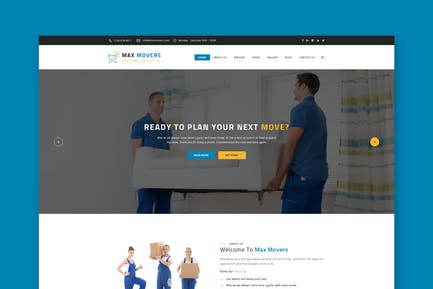 Max Movers - Transport & Movers HTML Template