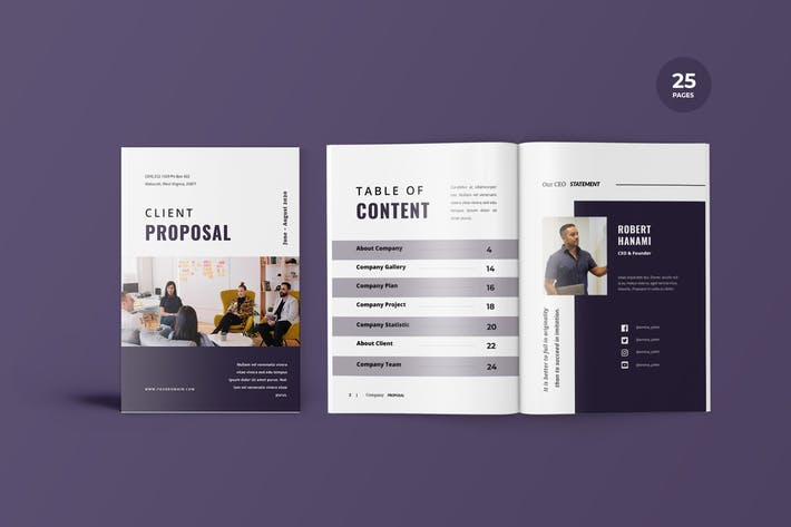 Thumbnail for Client Proposal Template