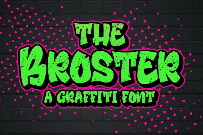 Thumbnail for Broster - una fuente de graffiti