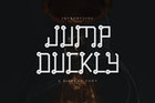 Jump Duckly - Display Font DR