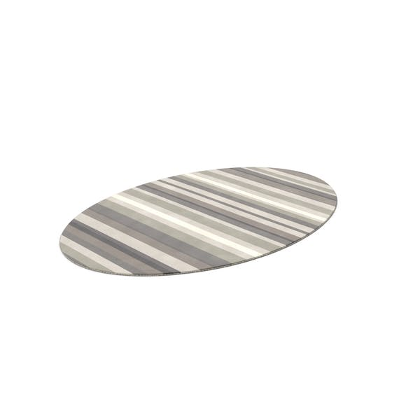 Thumbnail for Striped Oval Rug